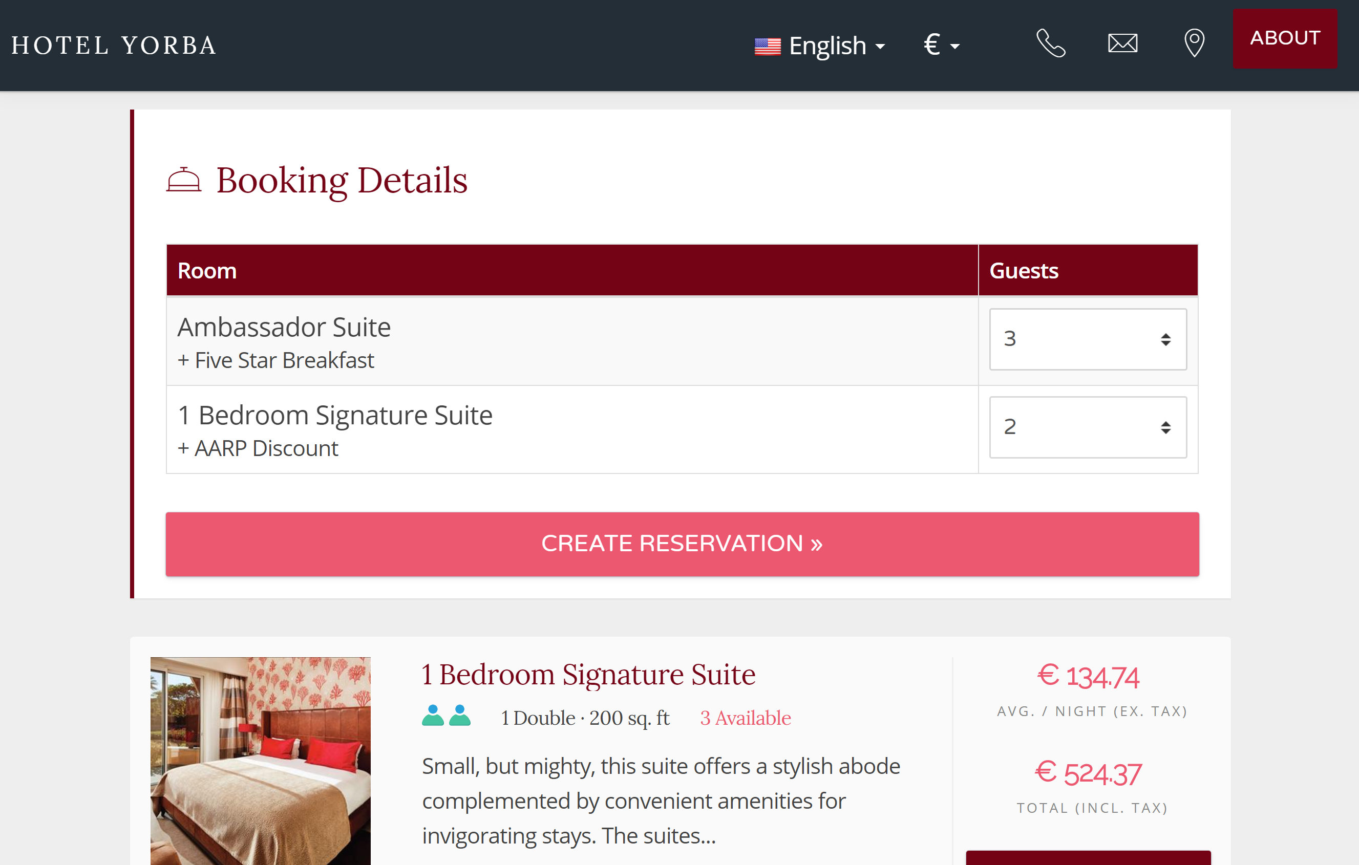 Booking Engine Guests can add all the rooms they require, specify how many guests will stay in each room, then check-out all in one step. Their booking info is condensed for easy reading but can be expanded to show all the room and rate pricing details on check-out.